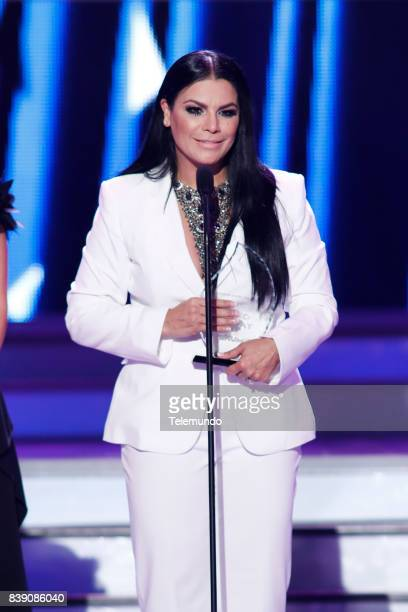 MUNDO 2017 'Show' Pictured Olga Tanon on stage during the 2017 Premios Tu Mundo at the American Airlines Arena in Miami Florida on August 24 2017
