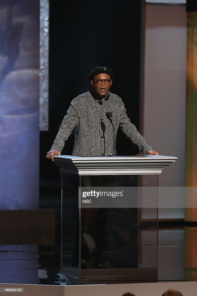 Samuel Jackson presents on stage at The Shrine Auditorium, February 1, 2013 --