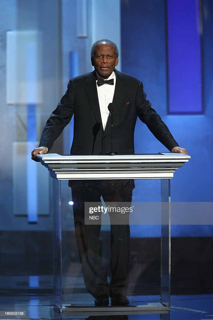 Sidney Poitier presenting on stage at The Shrine Auditorium, February 1, 2013 --