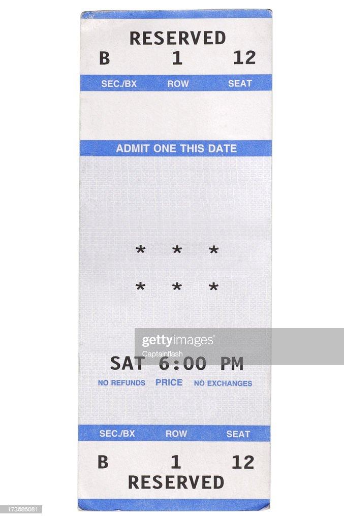 Show Ticket : Stock Photo