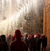 Shower of sparks before the Correfoc