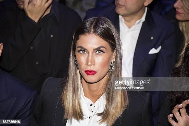 Showgirl model and actress Melissa Satta during the Milano Fashion Week Milan 25th September 2016
