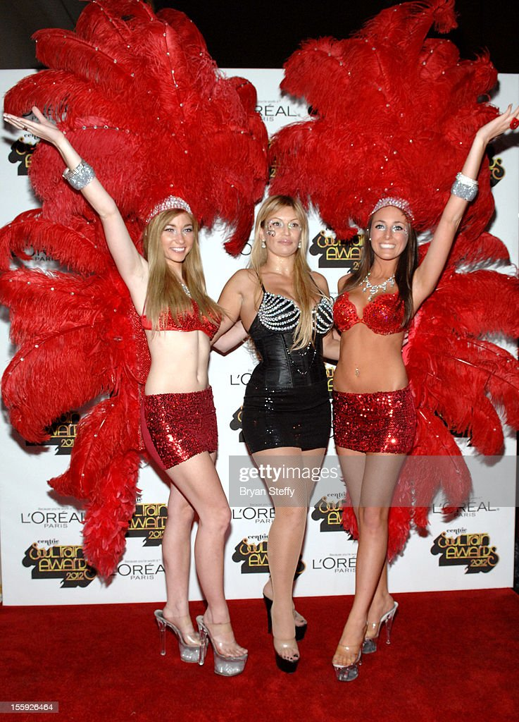 Showgirl models arrive at the Loreal Style Stage at the Soul Train Awards 2012 at PH Live at Planet Hollywood Resort & Casino on November 8, 2012 in Las Vegas, Nevada.
