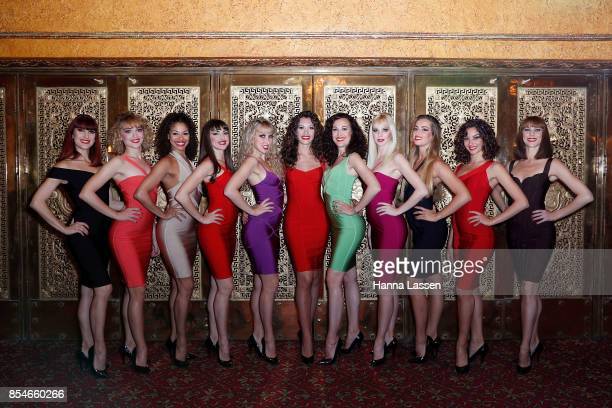 Showgirls pose ahead of opening night for Crazy Horse Paris 'Forever Crazy' at State Theatre on September 27 2017 in Sydney Australia