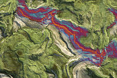 Showing Climate Change on topography map