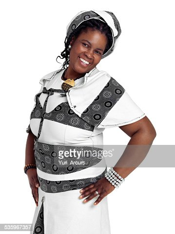 Showing off her african style : Stock Photo