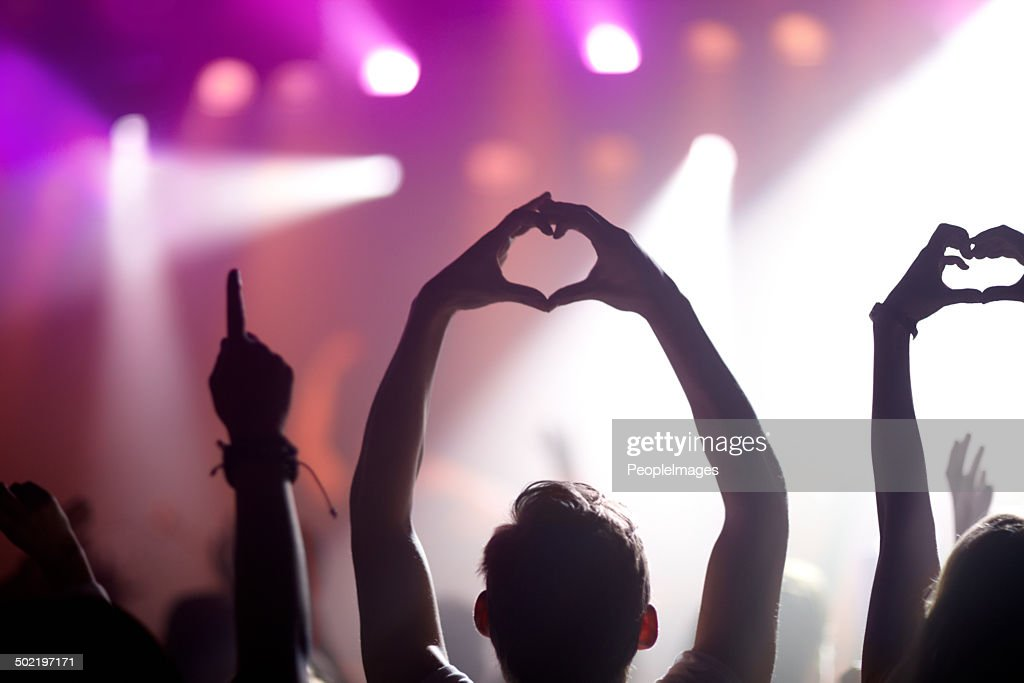 Showing some love for the band : Stock Photo