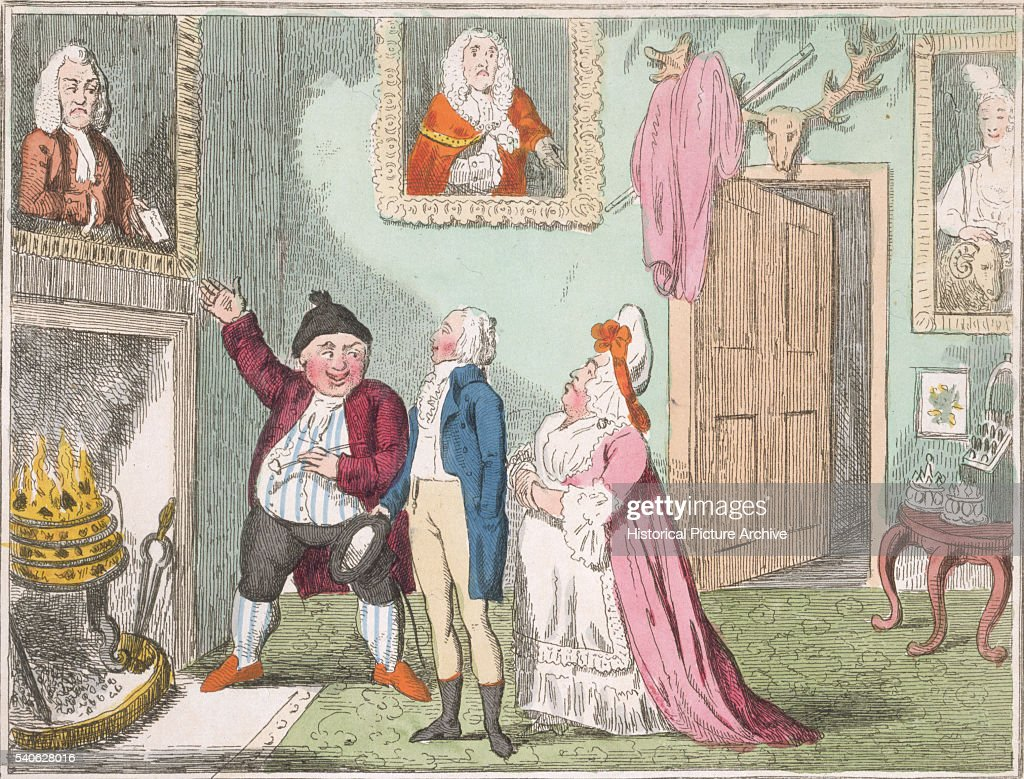 Showing the Family Pictures by George Cruikshank