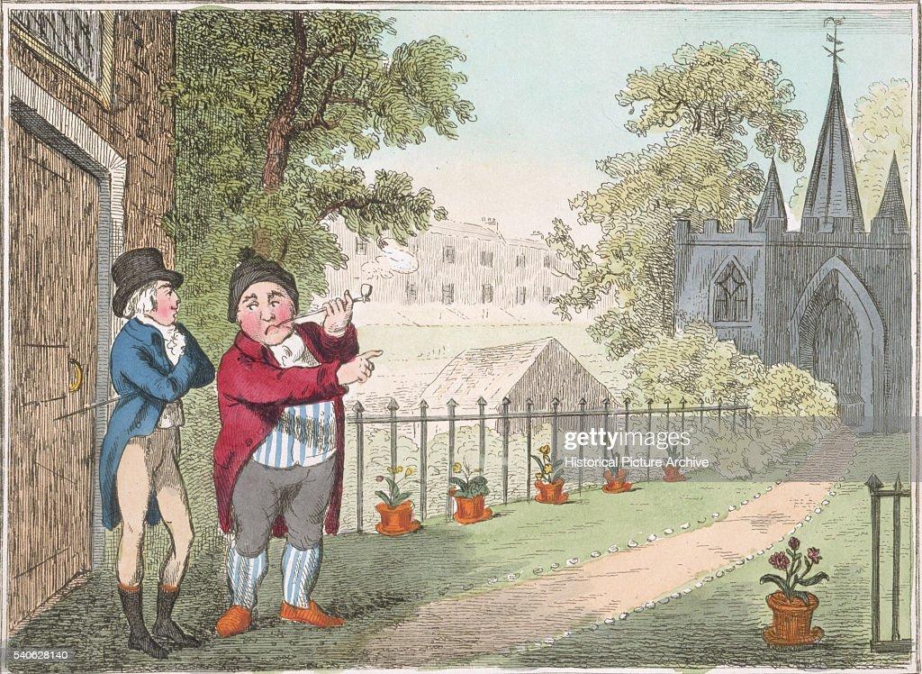 Showing the Garden by George Cruikshank