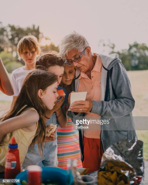 Showing the Grandkids Old Photos