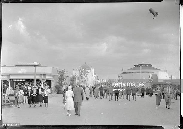 Shown above is the entrance to the Midway the amusement center of the Chicago World's Fair on the opening Day May 27th