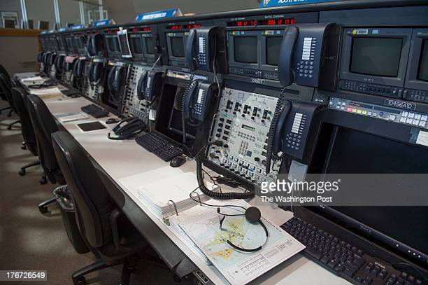 Shown are work stations in Firing Room 4 of the Launch Control Center at the NASA Kennedy Space Center on August 9 2013 in Cape Canaveral Fl The room...