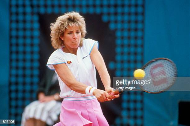 Shown here is tennis star Chris Evert at the French Open in Paris France in 1986