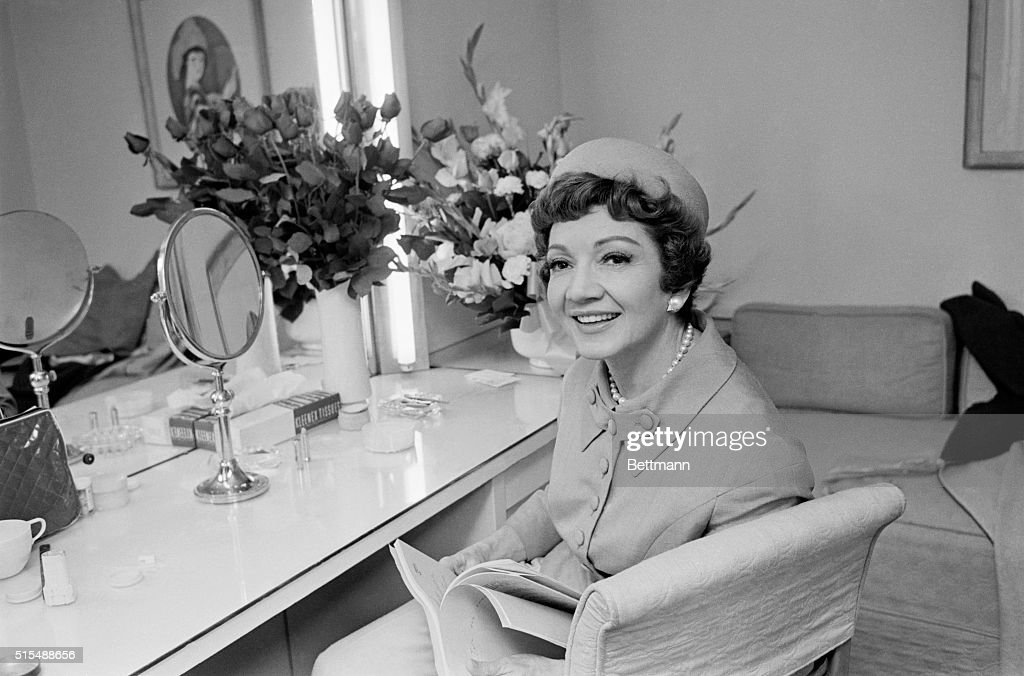 Shown in her Warner Bros dressing room during an interview actress Claudette Colbert said that American audiences are much harder to entertain...