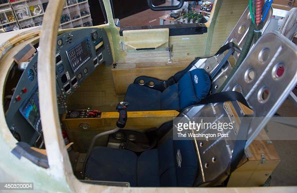 MOJAVE CA OCTOBER Shown is a mockup of a Lynx suborbital spacecraft cockpit in the Xcor Aerospace hangar at Mojave Air and Space Port on October 23...