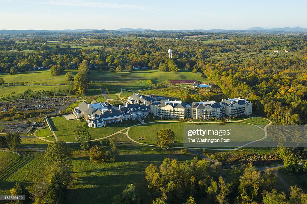 Shown is an aerial view of the new Salamander Resort on October 18, 2013 in Middleburg, Va.