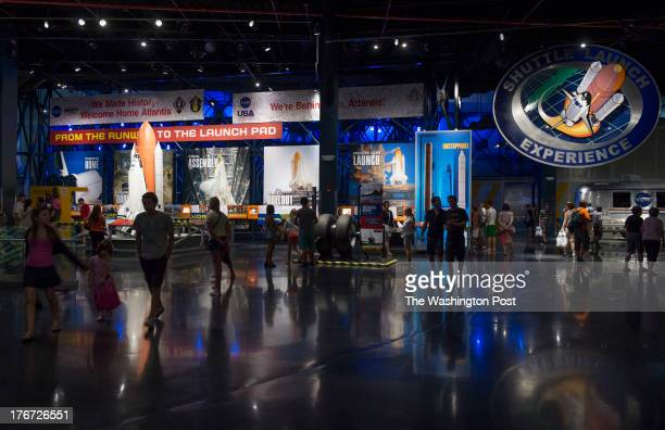 Shown is the view inside the Kennedy Space Center Visitor Complex at the NASA Kennedy Space Center on August 9 2013 in Cape Canaveral Fl
