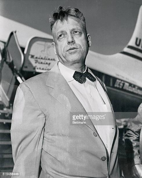 Shown on his arrival at San Francisco airport is Dr Alfred C Kinsey who is about to jolt the world with some starling information on the sexual...