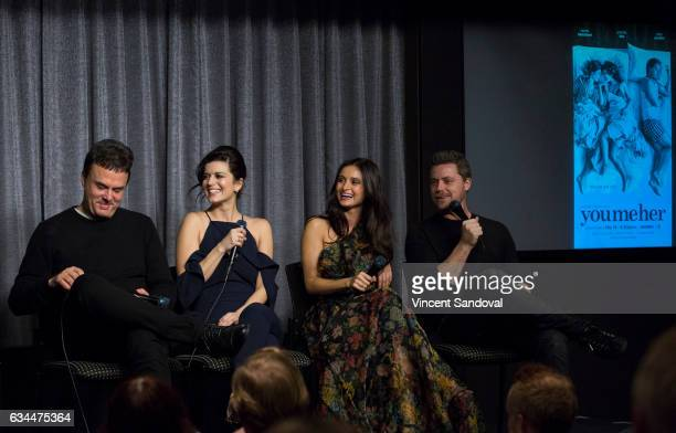 Showrunner John Scott Shepherd and Actors Priscilla Faia Melanie Papalia and Greg Poehler attend SAGAFTRA Foundation's Conversations with 'You Me...