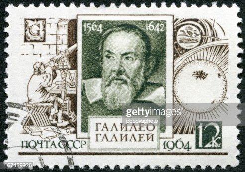 USSR 1964 shows Galileo Galilei (1564-1642), 400th birth anniversary : Stock Photo
