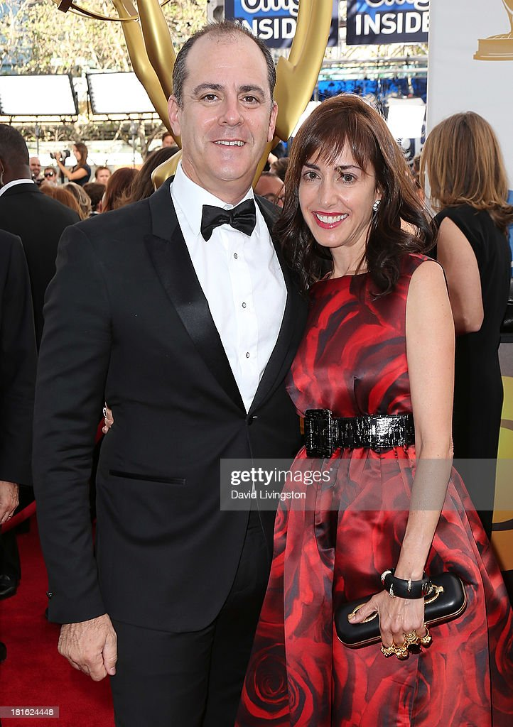 Showtime Networks Inc. President of Entertainment David Nevins (L) and wife Andrea Nevins attend the 65th Annual Primetime Emmy Awards at the Nokia Theatre L.A. Live on September 22, 2013 in Los Angeles, California.