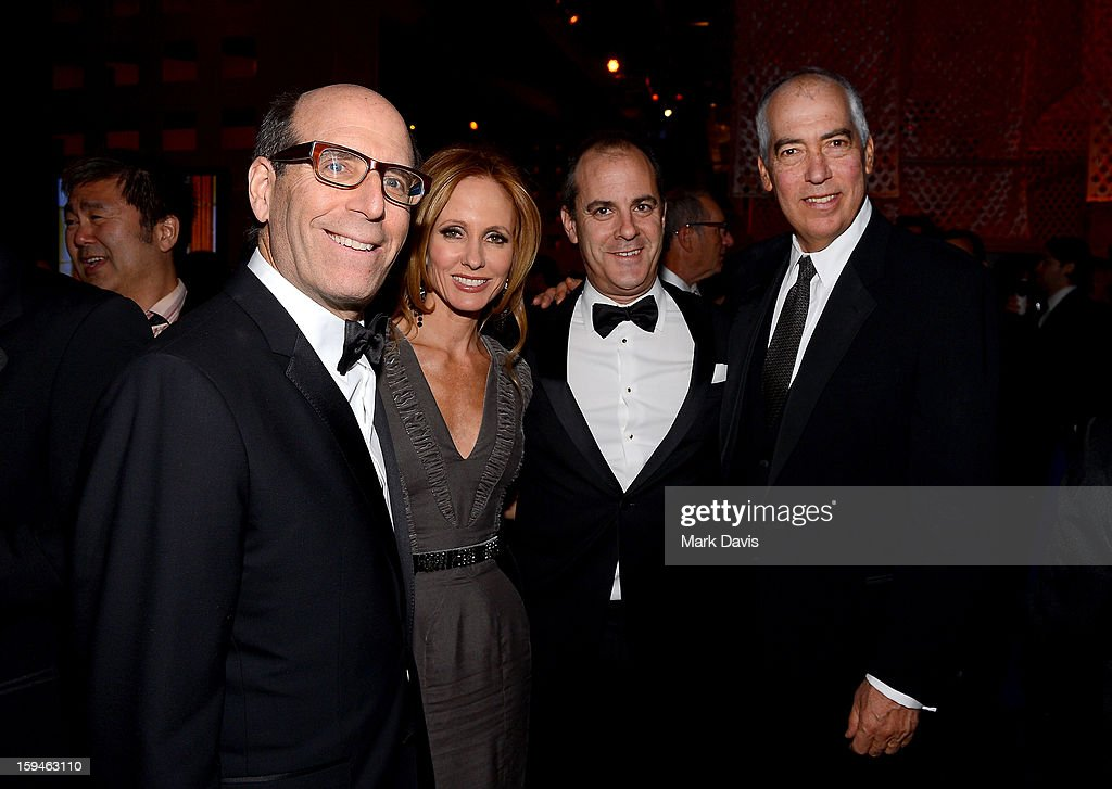 CEO Showtime Networks Matt Blank, Chairman, 20th Century Fox Television Dana Walden, President of Entertainment Showtime Networks David Nevins, and Chairman and Chairman, 20th Century Fox Television, Gary Newman attend the FOX After Party for the 70th Annual Golden Globe Awards held at The FOX Pavillion at The Beverly Hilton Hotel on January 13, 2013 in Beverly Hills, California.