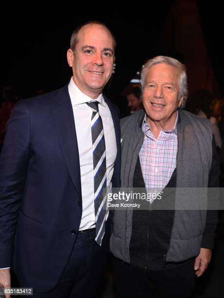 Showtime Networks President and CEO David Nevins and New England Patriots CEO Robert Kraft attend the Showtime and Elit Vodka hosted BILLIONS Season...