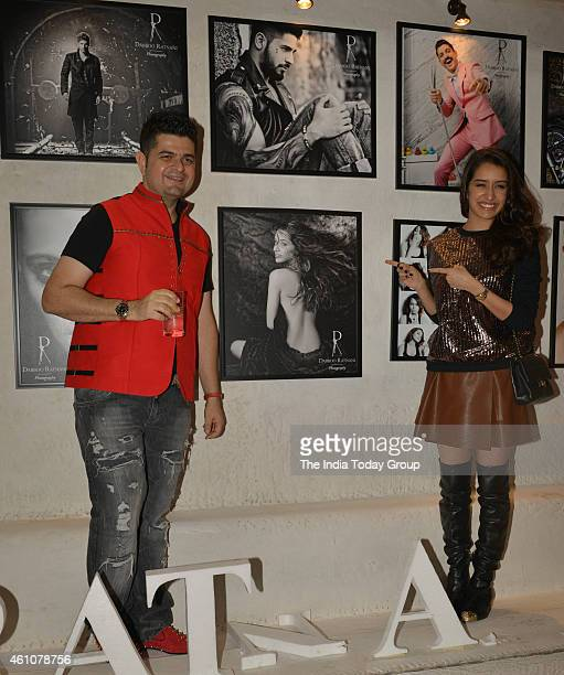 Shraddha Kapoor and Dabboo Ratnani at his 2015 calender launch in Mumbai