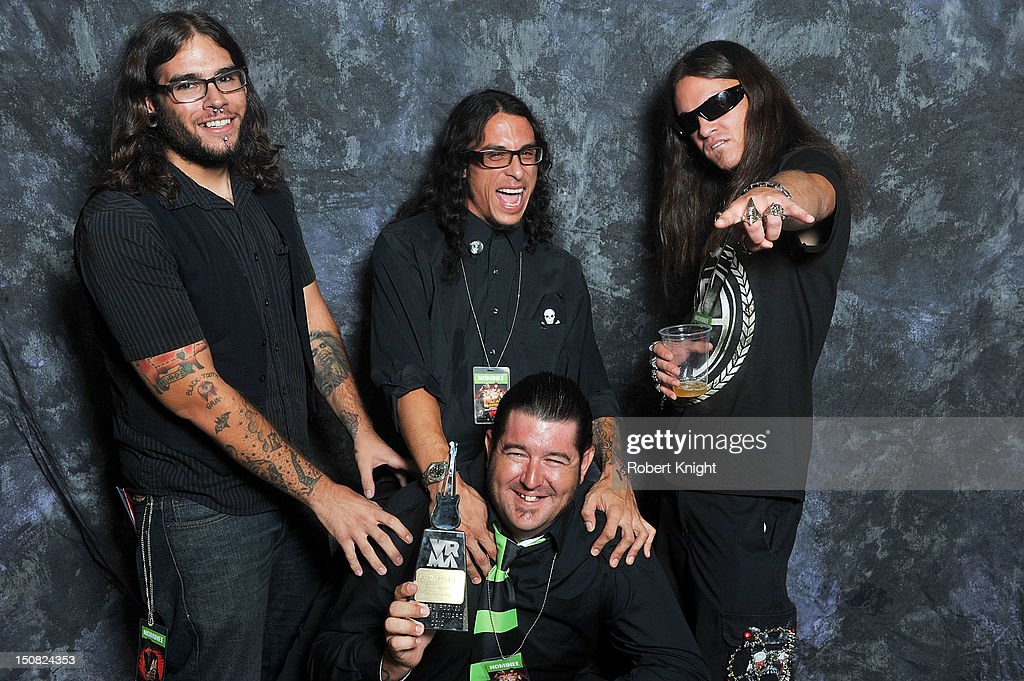 Shrapnull portraits after they receive the award for 'Best Vegas Metal Band' at the Vegas Rocks! Magazine Awards 2012 at the Joint at the Hard Rock Hotel and Casino on August 26, 2012 in Las Vegas, Nevada.