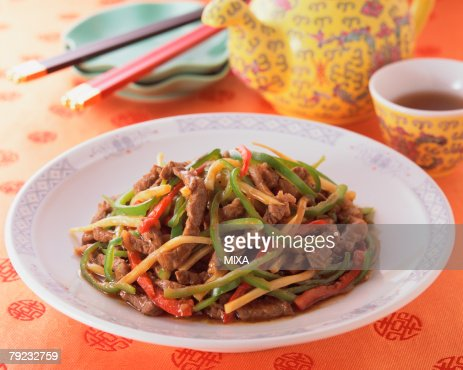 Shredded Beef with Pepper : Stock Photo