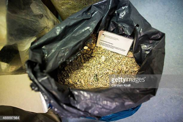 Shredded documents of the former East German secret police fill a bag in the Stasi archive on September 17 2014 in Berlin Germany The Stasi whose...