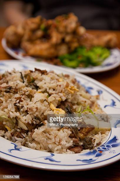 Shredded duck and preserved vegetable fried rice