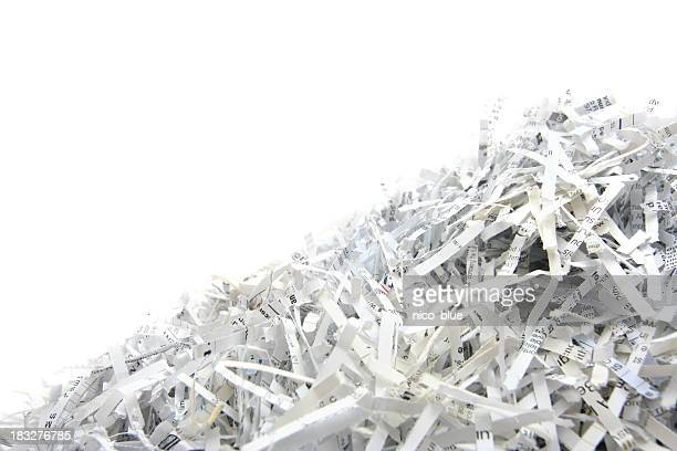 Shredded paper with copyspace