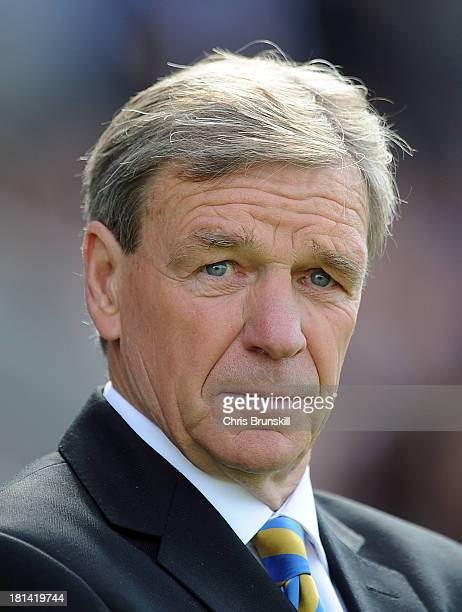 Shrewsbury Town manager Graham Turner looks on during the Sky Bet League One match between Shrewsbury Town and Wolverhampton Wanderers at Greenhous...
