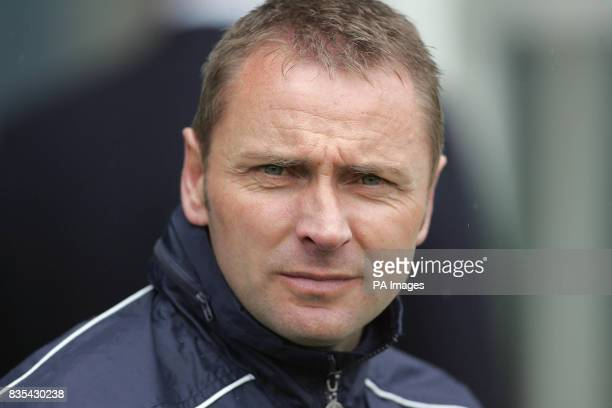 Shrewsbury Town's manager Paul Simpson during the CocaCola Football League Two Play Off Semi Final Second Leg match at Gigg Lane Bury