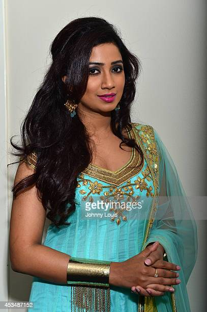 Shreya Ghoshal performs at Broward Center For The Performing Arts on August 9 2014 in Fort Lauderdale Florida
