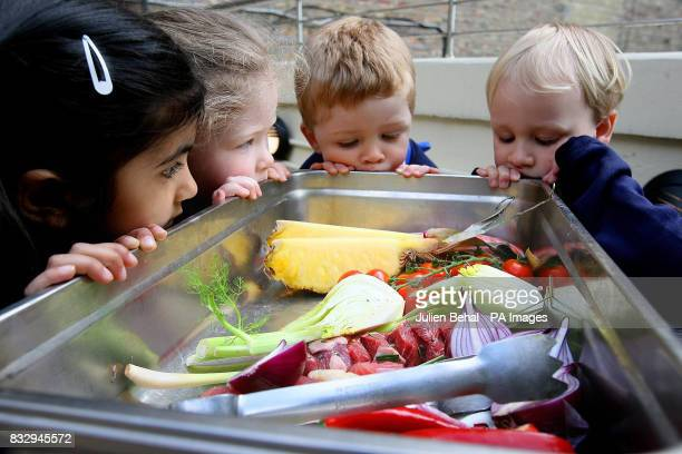 Shreya Sharma Emma Broderick Joe Broderick and Harry Bollard all from Fitzwilliam Montessori prepare for a barbecue to be cooked by Derry Clarke Head...