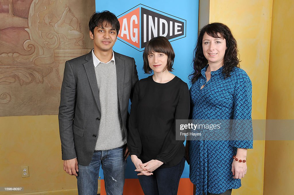 Shrihari Sathe, Eliza Hittman and Laura Wagner attend the SAGIndie Brunch at Cafe Terigo on January 21, 2013 in Park City, Utah.