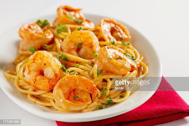 Shrimp and Pasta in a Tomato Cream sauce