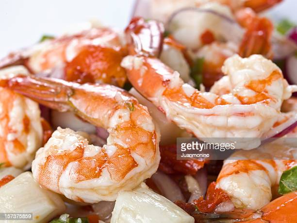 Shrimp and scallops salad