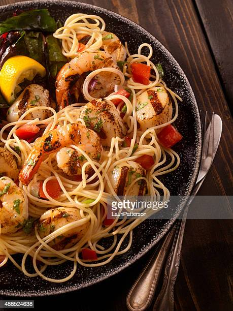 BBQ Shrimp And Scallops with Pasta