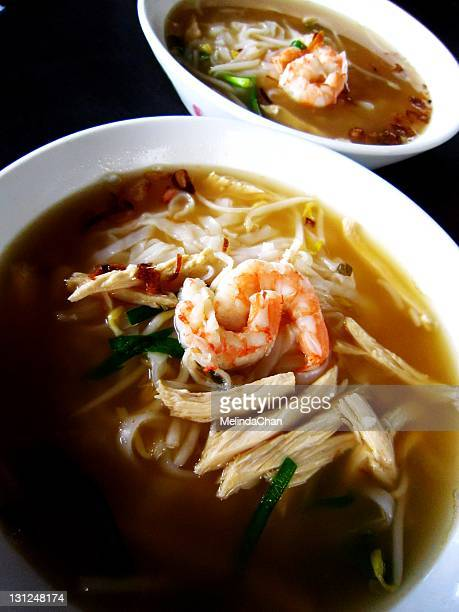 Shrimp and sliced chicken rice noodle