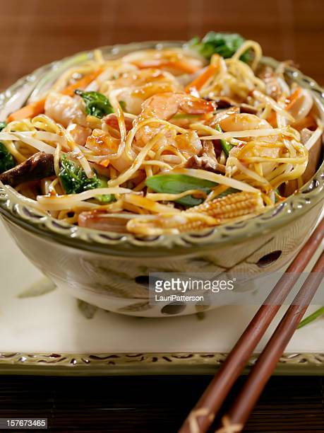 Shrimp And Vegetable Stirfry with Noodles