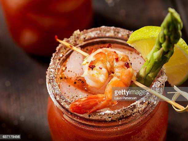Shrimp Bloody Mary or Caesar Cocktail