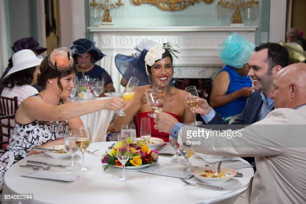 TOP CHEF 'Shrimp Boats and Hat Ladies' Episode 1410 Pictured Gail Simmons Padma Lakshmi Dominique Ansel Tom Colicchio