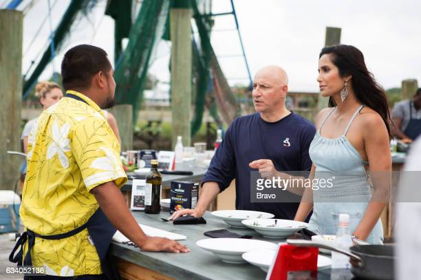 TOP CHEF 'Shrimp Boats and Hat Ladies' Episode 1410 Pictured Sheldon Simeon Tom Colicchio Padma Lakshmi