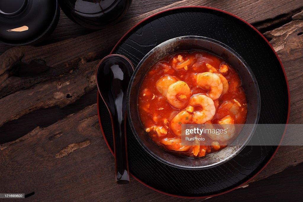 shrimp chili sauce,dishes image : Stock Photo