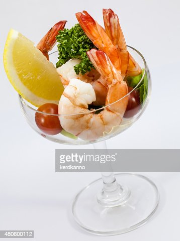 Shrimp Cocktail Isolated on a White Background. : Stock Photo