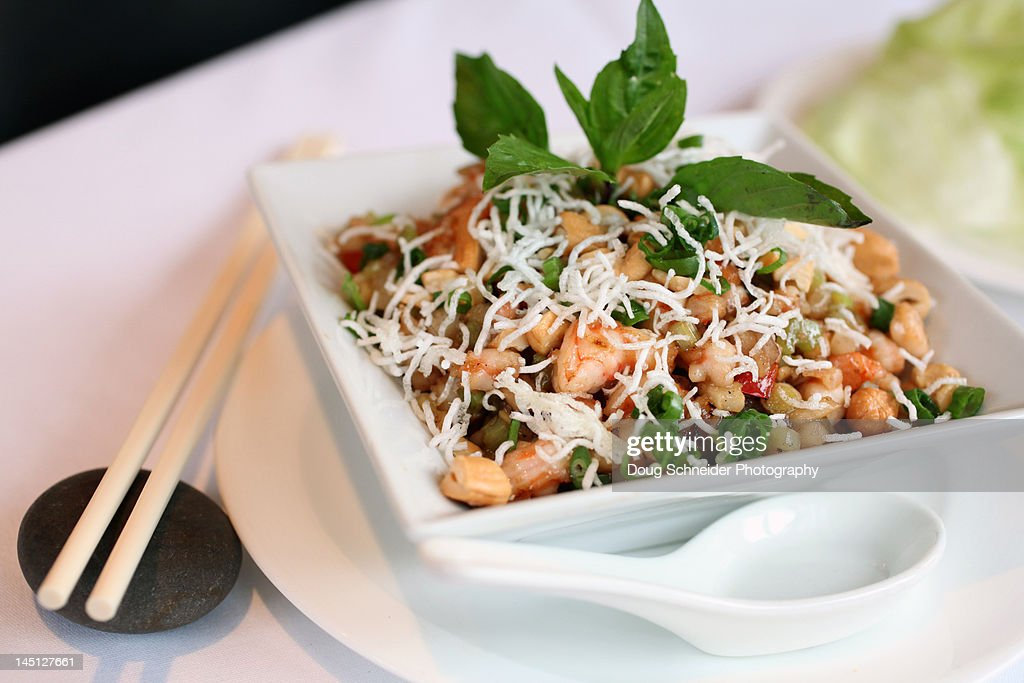 Shrimp salad in bowl : Stock Photo