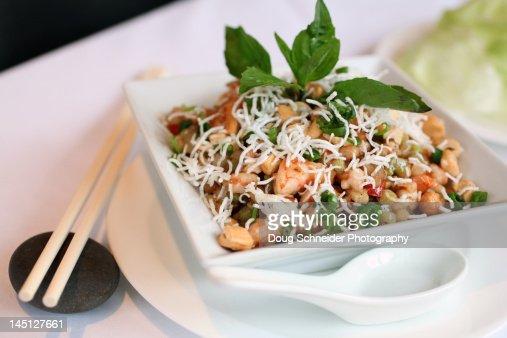 Shrimp salad in bowl : Stock Photo